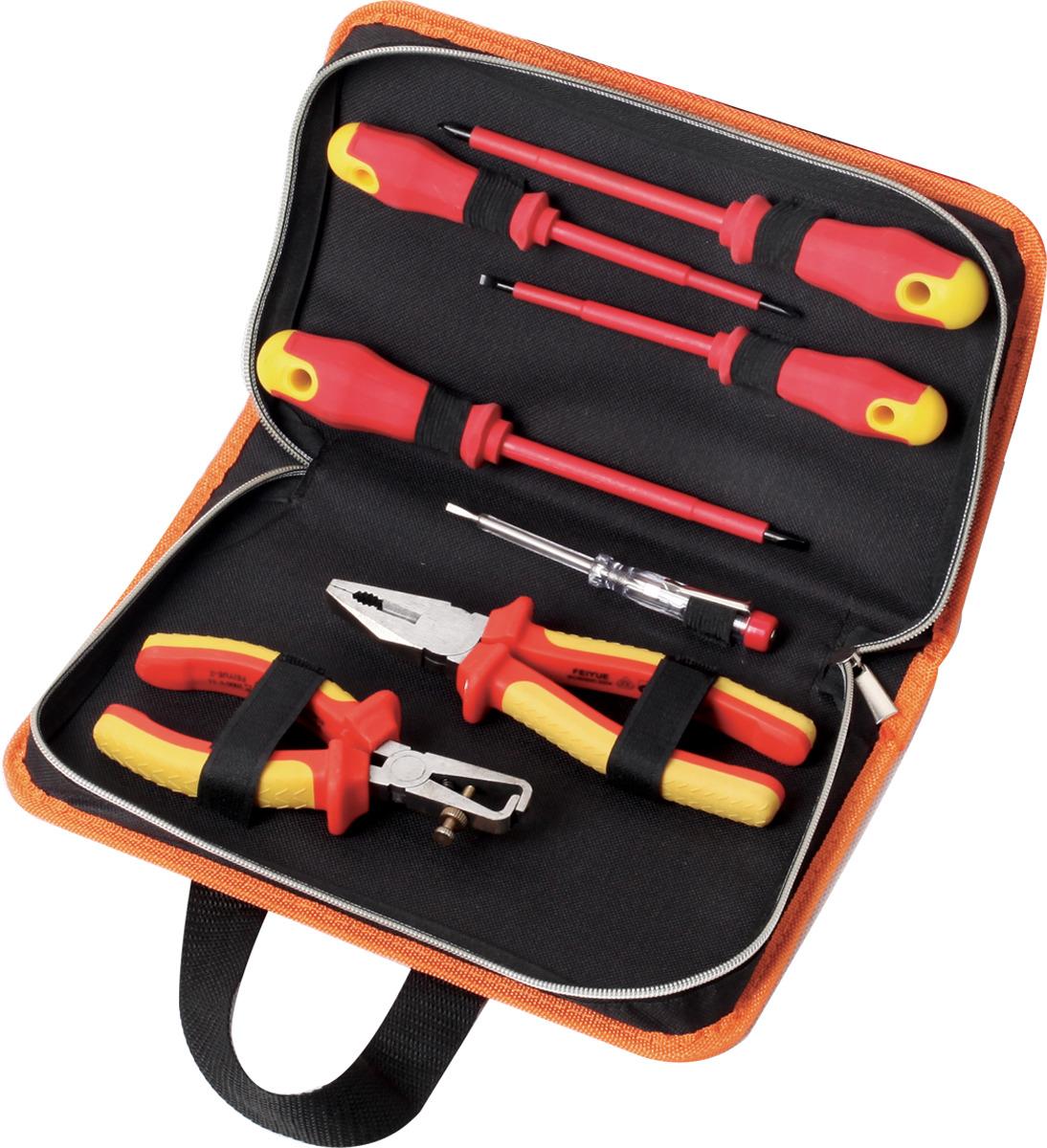 Набор инструментов для электромонтажных работ Кратон DE-03/07, 7 предметов