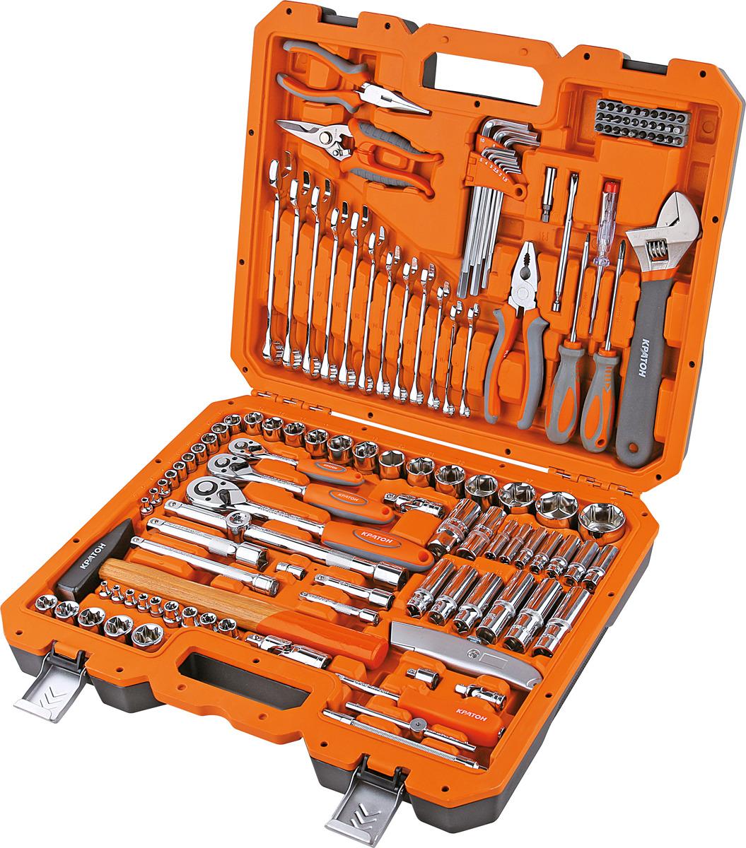 Набор инструментов Кратон TS-30 Multi 131, 1/4+1/2 торцевая головка bosch 10 мм 1 2 1 шт 1 608 552 012