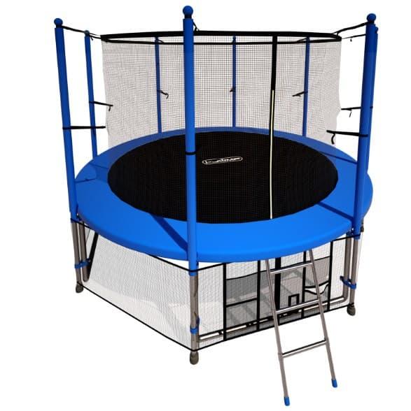 Батут i-JUMP 8ft 2,44 м с нижней сетью и лестницей цена и фото