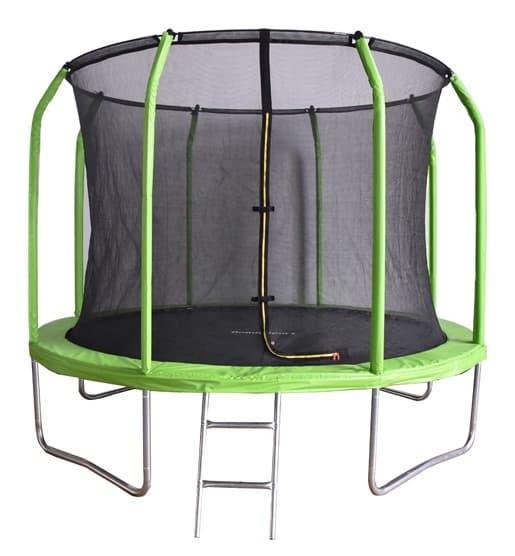 Батут Bondy Sport 8 ft 2,44 м с сеткой и лестницей, цвет: зеленый, BS8FTGR