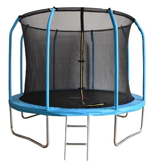 Батут Bondy Sport 8 ft 2,44 м с сеткой и лестницей, цвет: синий, BS8FTBL