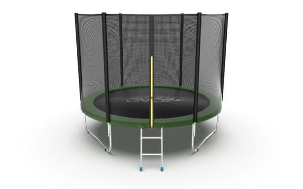 Батут Evo Fitness Jump External 10 ft, цвет: зеленый