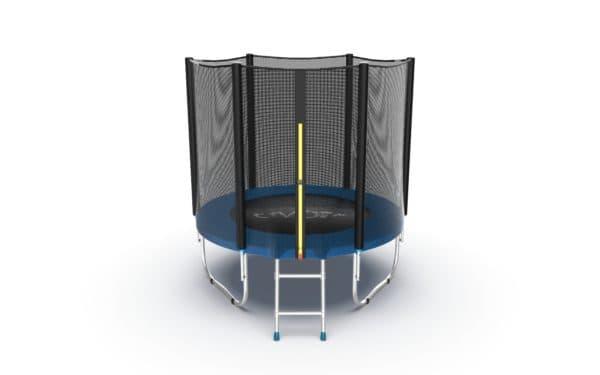 Батут Evo Fitness Jump External 6 ft, цвет: синий