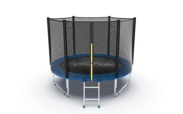 Батут Evo Fitness Jump External 8 ft, цвет: синий