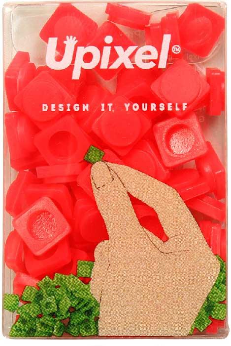 Пиксели для рюкзака Upixel Pixel, маленькие, цвет: красный, 80 шт