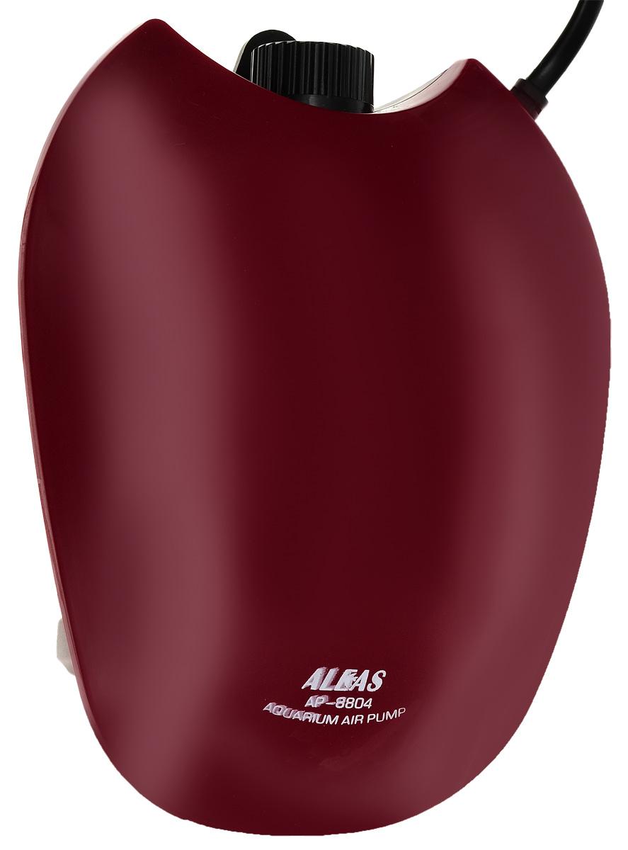 Компрессор двухканальный Aleas, цвет: красный, 2 х 3,3 л/мин компрессор schego m2k3 s 739