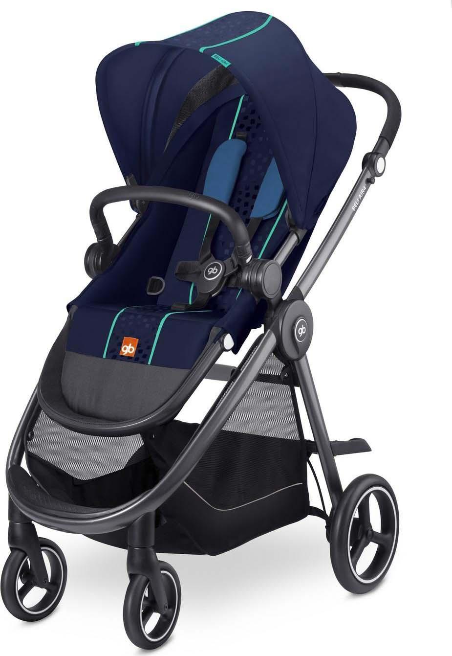 Коляска прогулочная GB Beli Air 4, цвет: синий коляска прогулочная gb beli air 4 dragonfire red