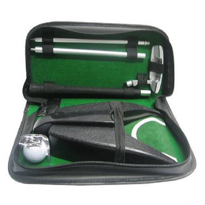 Набор для гольфа Partida, c автоматической лузой, в кожаном кейсе