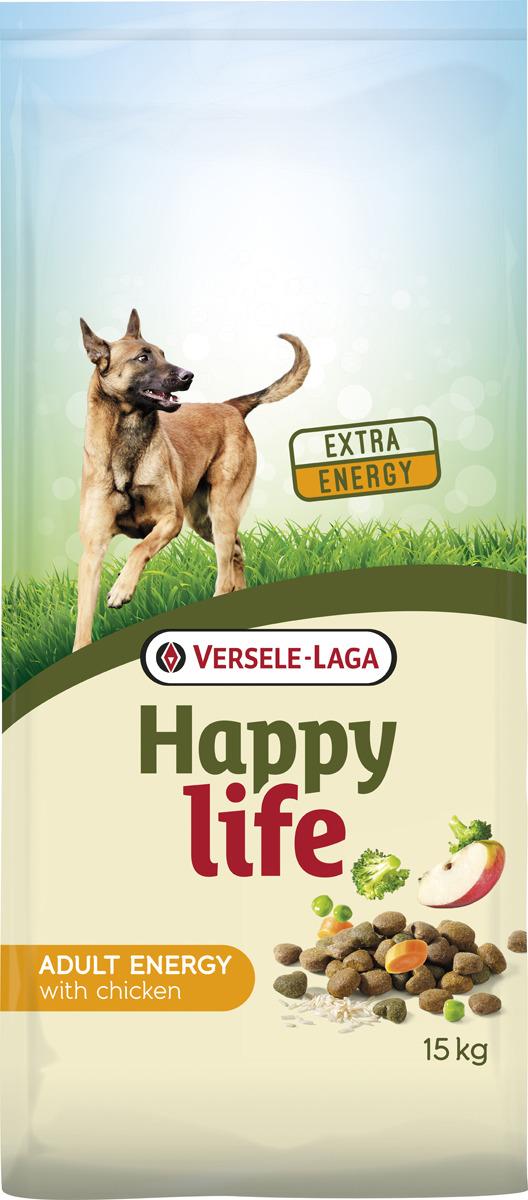 Корм сухой Versele-Laga Happy Life, для активных собак, с курицей, 15 кг