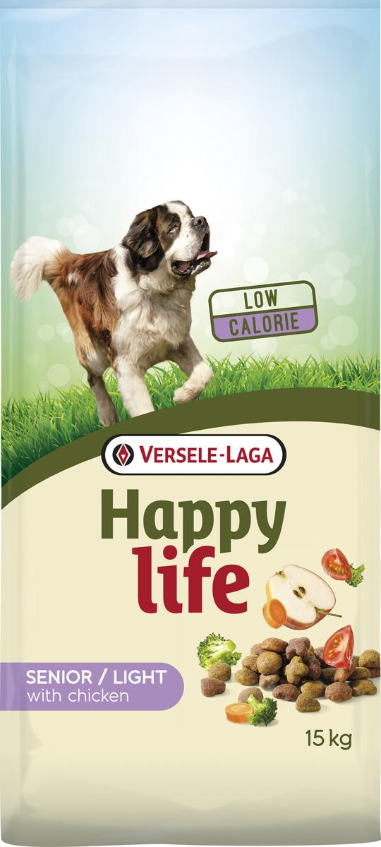 Корм сухой Versele-Laga Happy Life, для пожилых собак, с курицей, 15 кг