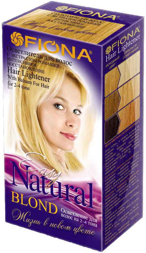 Осветлитель для волос Fiona, с экстрактом ромашки, 2-4 тона, 2 шт в пакете