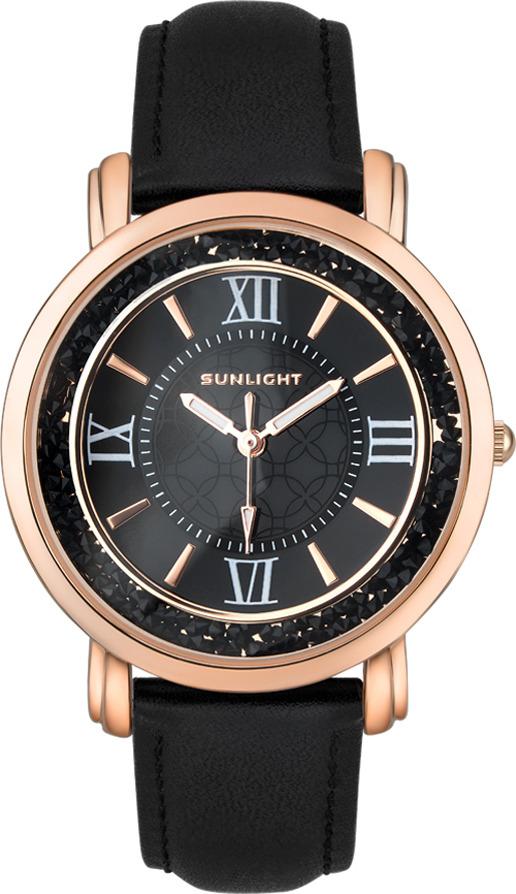 Часы наручные женские Sunlight, цвет: черный. S384ARB-01LB все цены