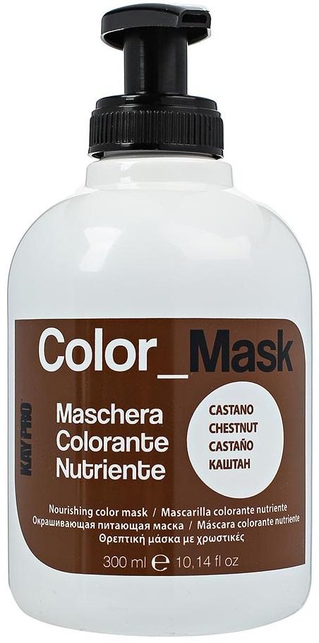 Маска для волос KayPro, питающая, окрашивающая, тон каштан, 300 мл