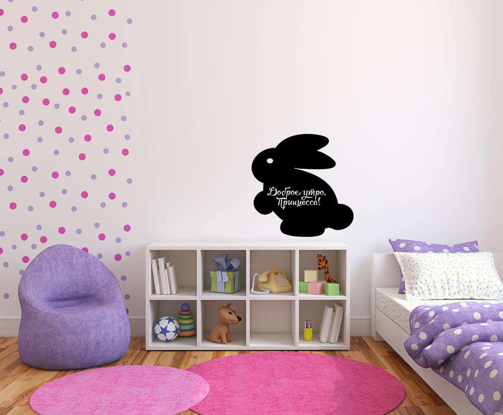 Мел Посмел Меловая наклейка Кролик, размер 52х47,5 см цена
