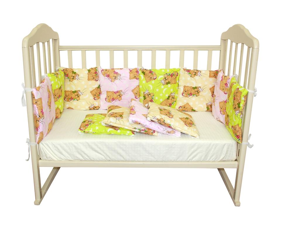 "Борт ""подушки"" из 12 предметов, Soft Story, розовая радуга."