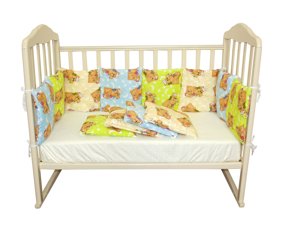 "Борт ""подушки"" из 12 предметов, Soft Story, бирюзовая радуга,."