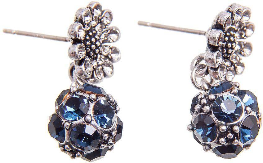 Серьги женские Kameo-bis, цвет: серебряный, синий. ER808116 брюки женские sela цвет ночное небо p 115 878 8330 размер 44