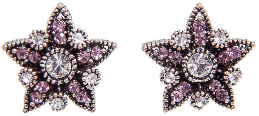 Серьги женские Kameo-bis, цвет: серебряный, розовый. ER808123 жен крупногабаритные прочее стразы серьги слезки секси крупногабаритные мода серебряный лиловый розовый волны серьги назначение