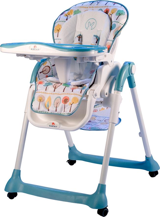Стульчик для кормления BabyHit Miracle, цвет: голубой babyhit babyhit стульчик для кормления miracle серый
