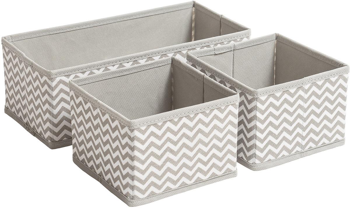 Фото - Набор коробок для хранения Tatkraft Wave, 3 шт держатель tatkraft elf двойной цвет серый металлик 8 x 2 5 x 14 см