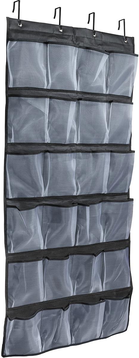 Органайзер подвесной Tatkraft Place, 24 кармана, 61 х 6 х 145 см органайзер с крышкой в багажник isky полиэстер цвет черный 51 x 31 х 31 см