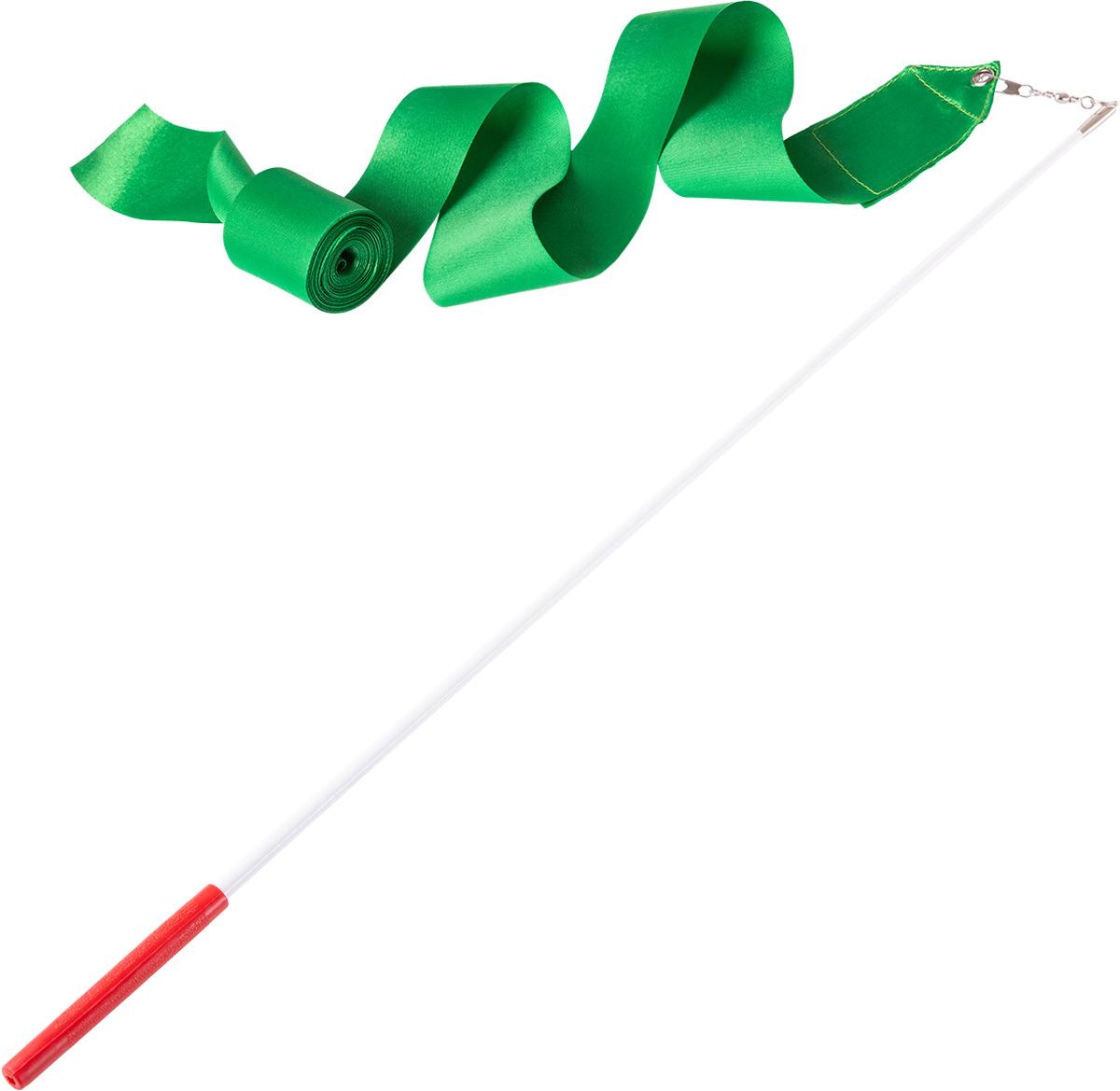 Лента для х/г Amely AGR-201 6м, с палочкой 56 см, зеленый
