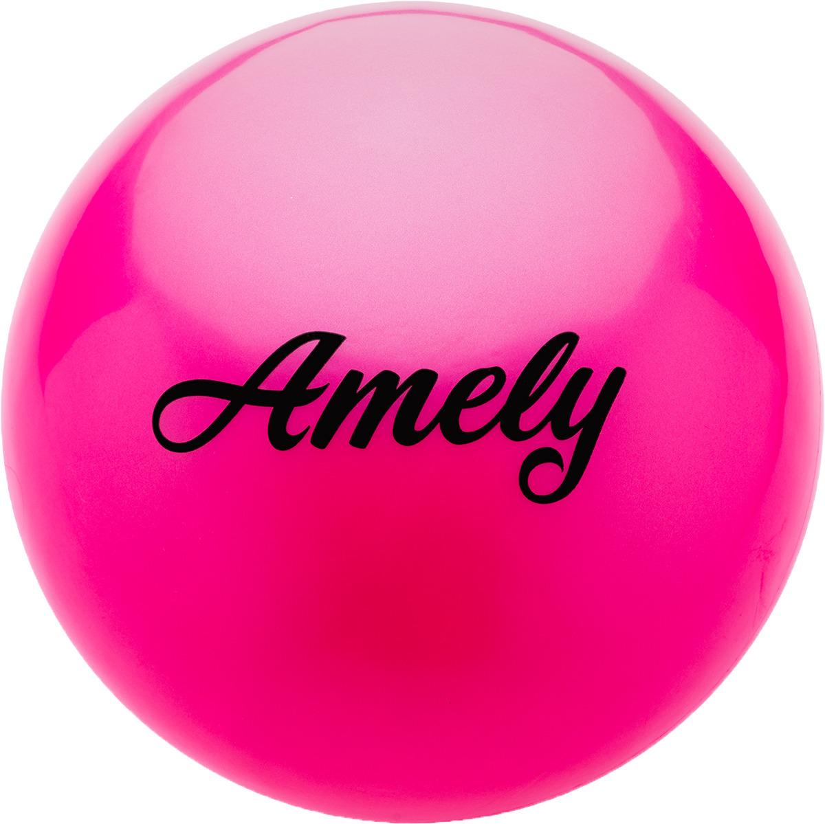Мяч для художественной гимнастики Amely AGR-101, диаметр 19 см, цвет: розовый цена