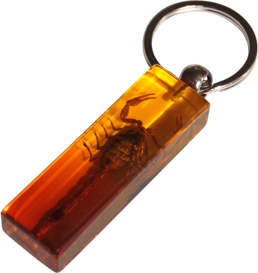 Брелок No name Скорпион, цвет: красный, желтый цена