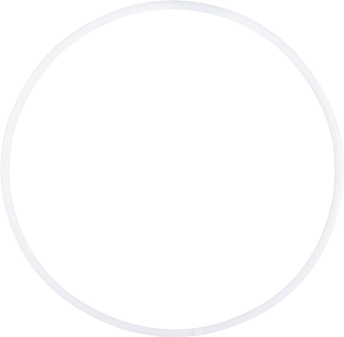 Обруч для художественной гимнастики Amely AGO-101, диаметр 65 см, цвет: белый обруч пластмастер 40040 диаметр 50 см цвет в ассортименте