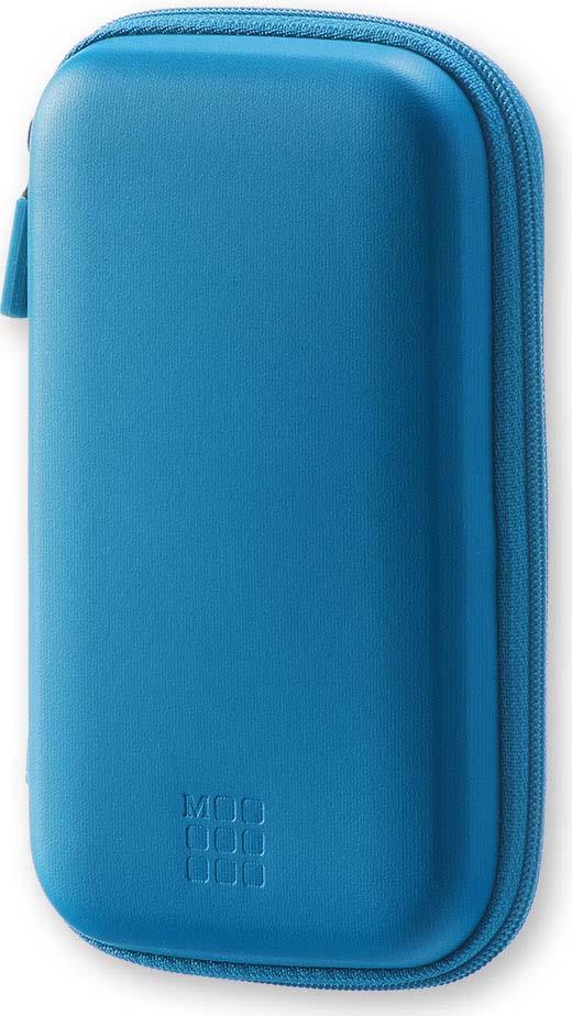 Чехол для путешествий Moleskine Journey Pouch Small, с ремешком на запястье, цвет: синий, 9 х 14,2 x 3,2 см