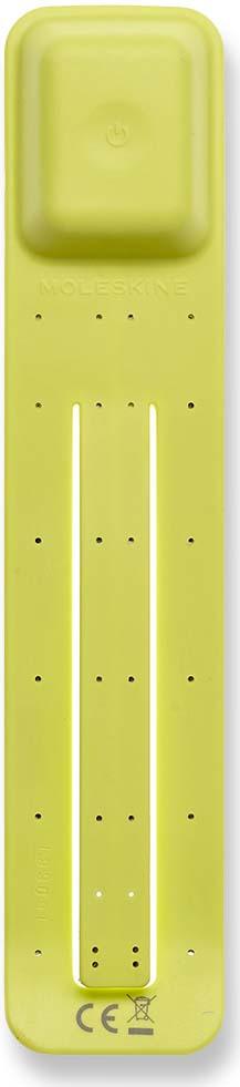 Фонарик-закладка Moleskine Booklight, светодиодный, цвет: желтый