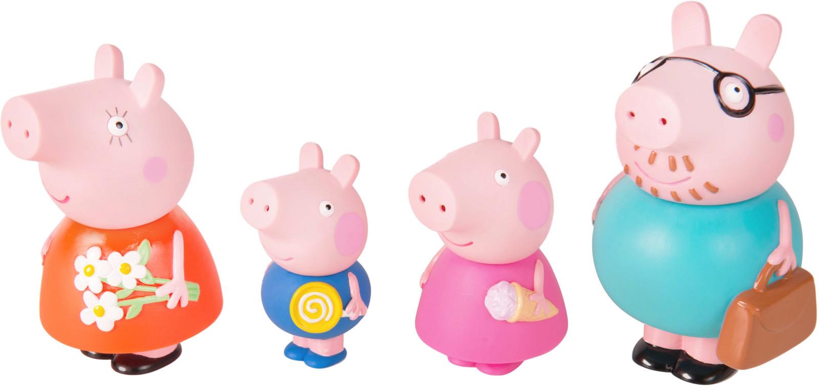 Игровой набор для ванной Семья Свинки Пеппы, 4 фигурки майка борцовка print bar семья свинки пеппы