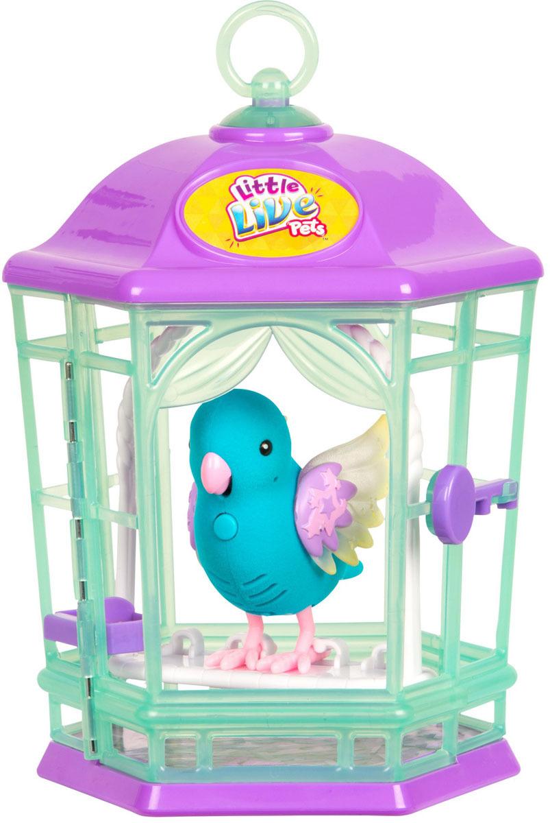 Интерактивная игрушка Little Live Pets Птичка с клеткой со светящимися крылышками. Небесный колокольчик цена