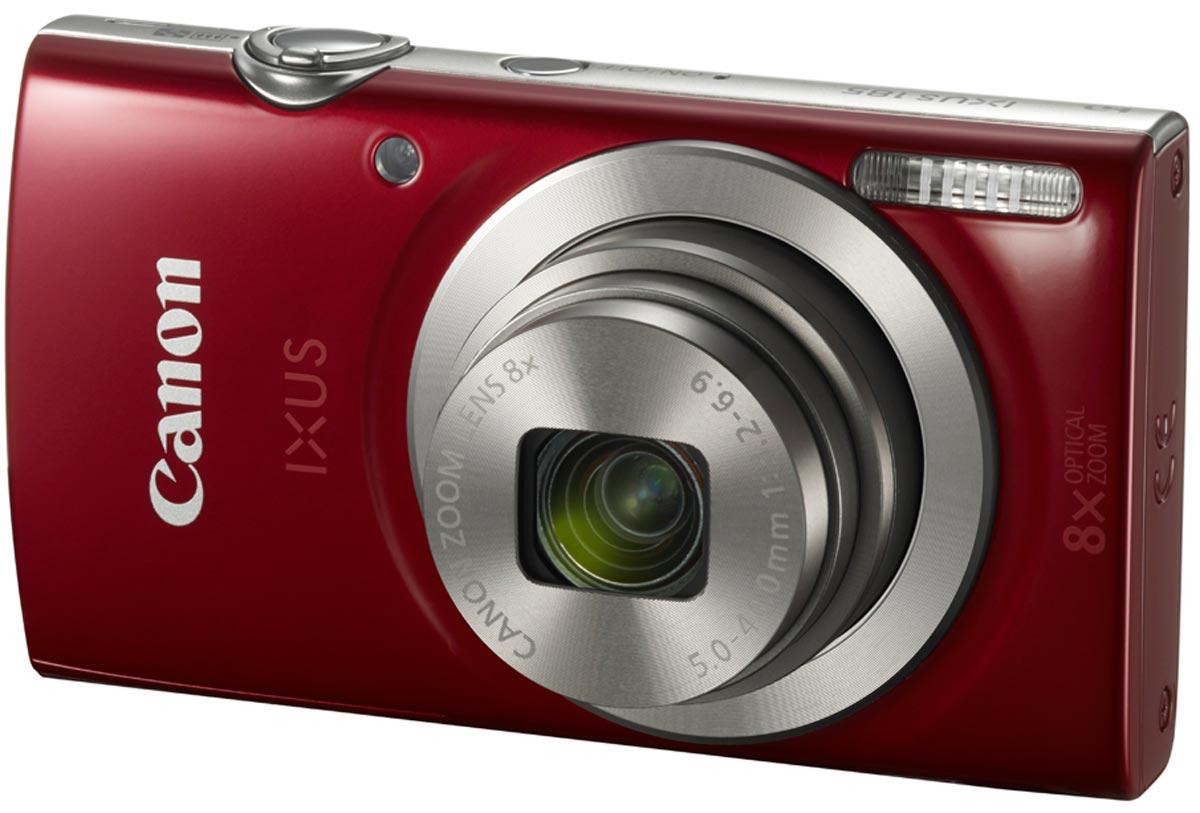 лучшая цена Компактный фотоаппарат Canon IXUS 185, Red