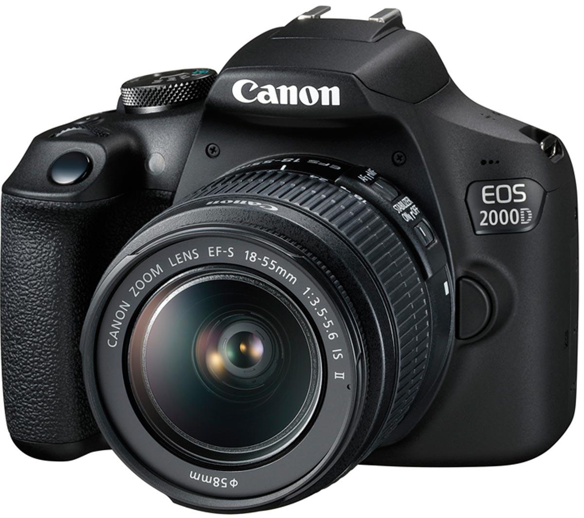 Зеркальный фотоаппарат Canon EOS 2000D Kit, 18-55 IS, Black зеркальный фотоаппарат canon eos 2000d kit black