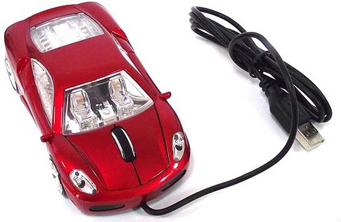 лучшая цена Эврика А30 Автомобиль, Red мышь
