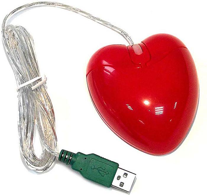 лучшая цена Эврика Сердце, Red мышь