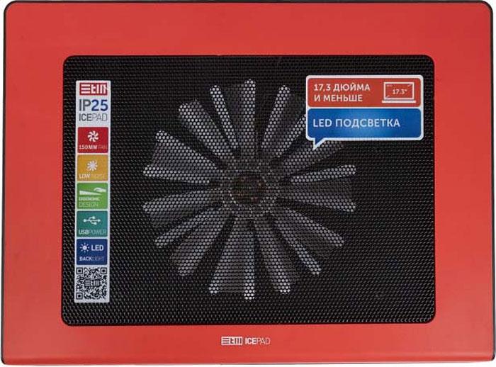 Охлаждающая подставка STM IP25 для ноутбука до 17,3, Red crown micro cmls 01 black red охлаждающая подставка для ноутбука 17