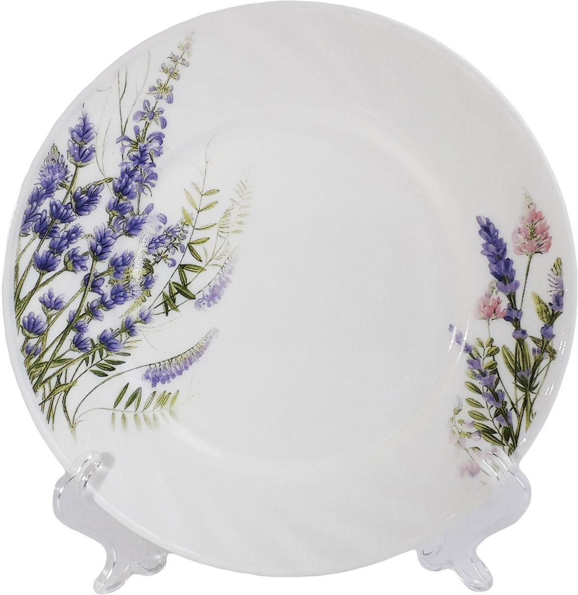 Тарелка обеденная МФК-профит Лаванда, диаметр 23 см сервиз столовый мфк профит лаванда 32 предмета