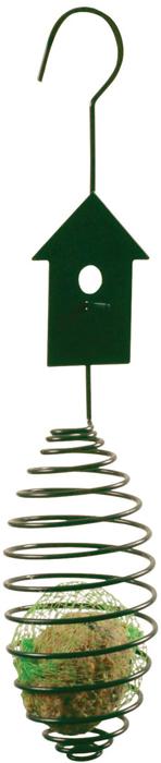 Кормушка для птиц Esschert Design, 7,3 х 34,8 см. FB28FB28Кормушка для птиц от Esschert Design отличается не только уникальным дизайном, но и удобством для небольших крылатых защитников природы. В нее легко помещается кусок хлеба или любой другое несыпучее лакомство (овощи, фрукты, сало), и каждая птичка может зацепиться за металлическую пружину и, раскачиваясь, заняться поеданием вкусного обеда. Подобные кормушки хорошо развешивать по всему саду или двору. Благодаря крепкому крючку в верхней своей части и легкому весу, они цепляются практически на все, что угодно. Но лучше выбирать надежные ветки деревьев или ажурные переплетения беседок, подоконников – те места, которые смогут удержать конструкцию, в которую уже положен корм и куда уцепилось сразу несколько голодных птиц.