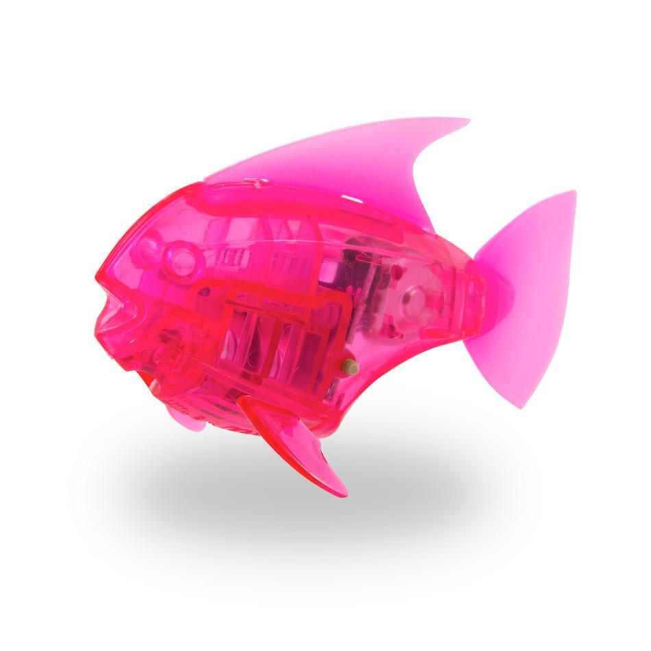 Игрушка для ванной HEXBUG Рыбка-робот светящаяся 460-2976 красный