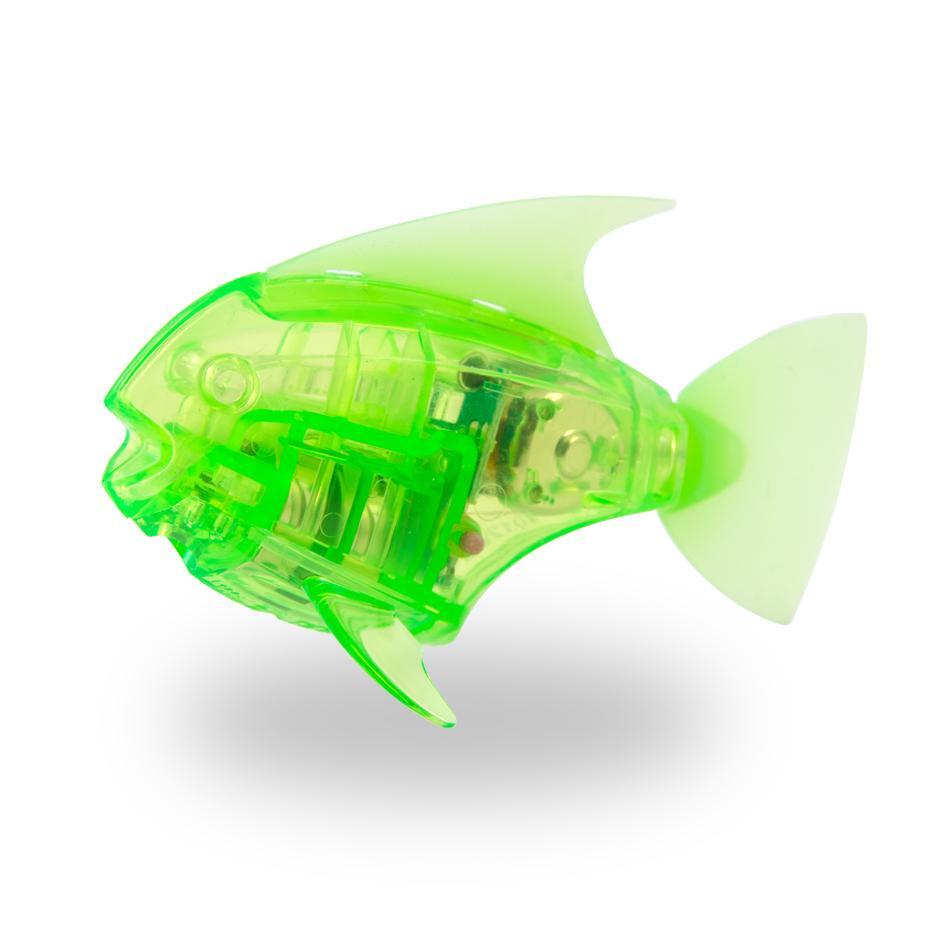 Игрушка для ванной HEXBUG Рыбка-робот светящаяся 460-2976 зеленый