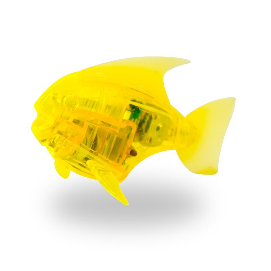 Игрушка для ванной HEXBUG Рыбка-робот светящаяся 460-2976 желтый