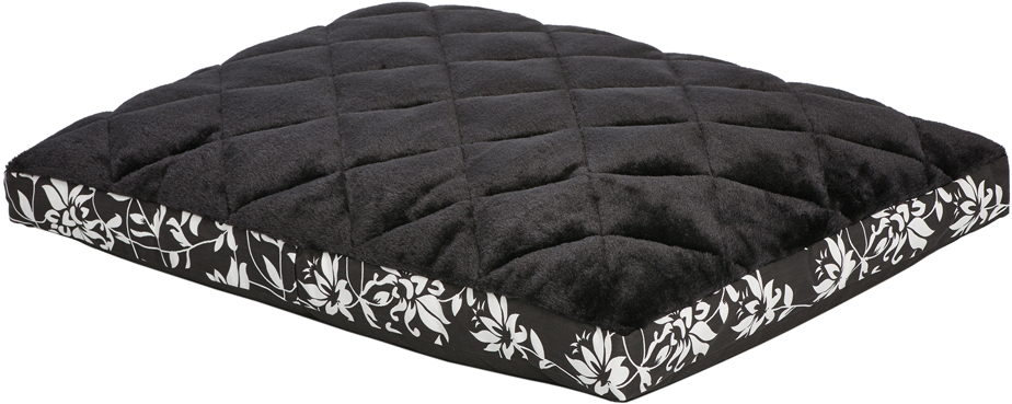 Лежак для животных MidWest Sofia, цвет: черный, белый, 76 х 53 см
