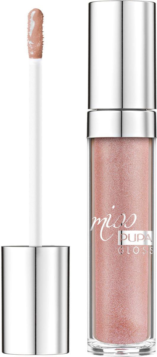 Блеск для губ Pupa Miss Pupa Gloss, оттенок №104, 5 мл barbie блеск для губ little miss детский оттенок прозрачный 2 мл
