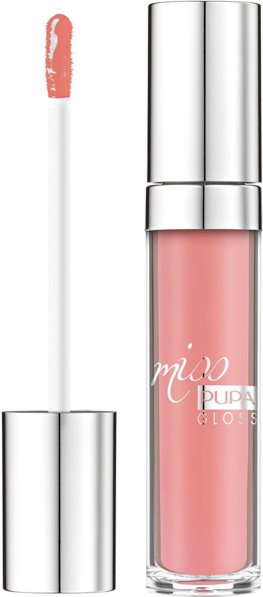Блеск для губ Pupa Miss Pupa Gloss, оттенок №201, 5 мл barbie блеск для губ little miss детский оттенок прозрачный 2 мл