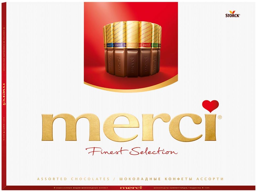Конфеты ассорти Merci, 675 г merci набор конфет ассорти из шоколада с миндалем 250 г