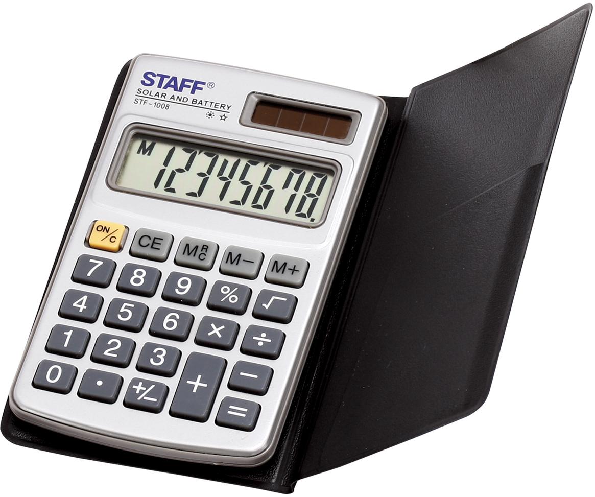 Калькулятор карманный Staff STF-1008 канцелярия staff калькулятор карманный stf 6238