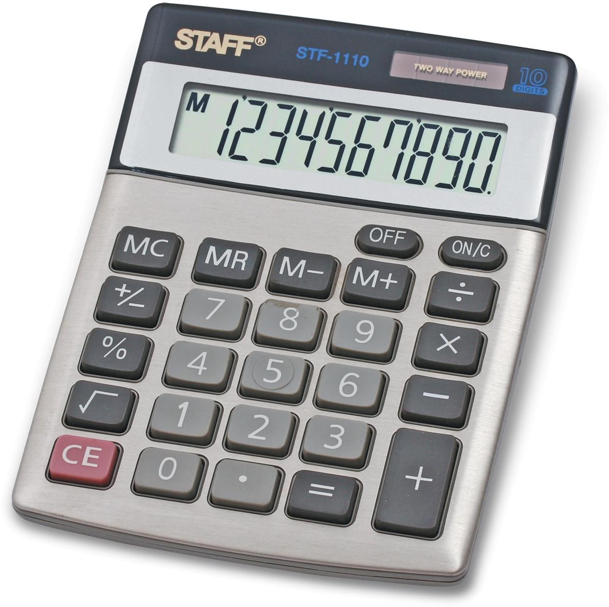 Калькулятор настольный Staff STF-1110 канцелярия staff калькулятор карманный stf 6238