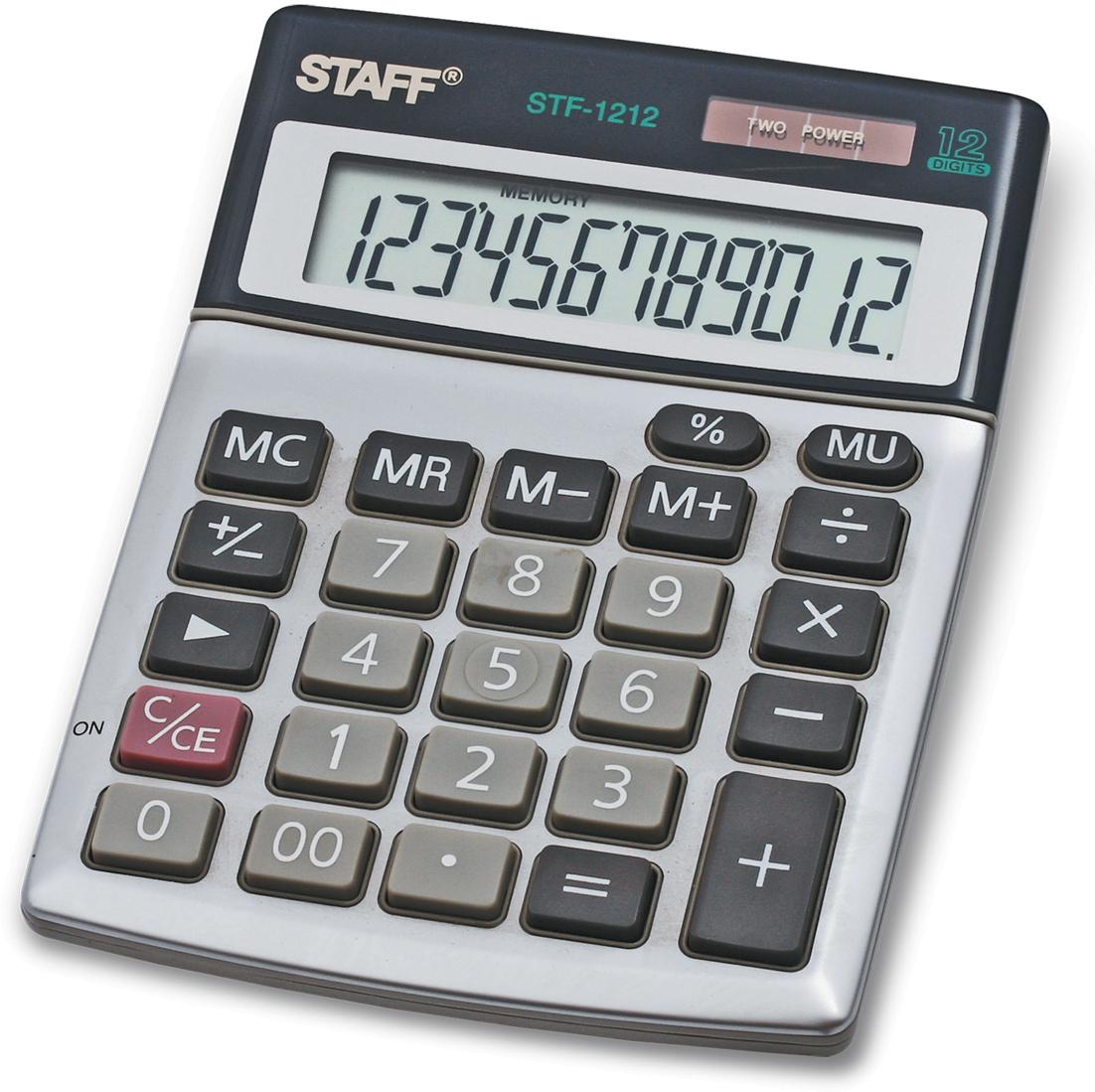 Калькулятор настольный Staff STF-1212 канцелярия staff калькулятор карманный stf 6238